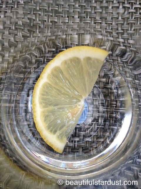 Lemon in a glass
